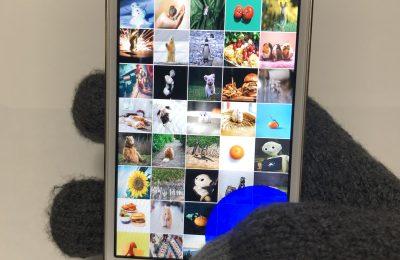 手袋着用時のスマートフォン操作改善手法の検討